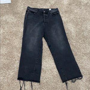 super cute washed black jeans